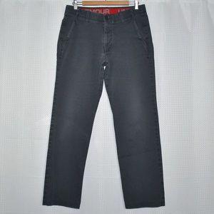 Under Armour Men's Pants Size 34 Gray Khaki
